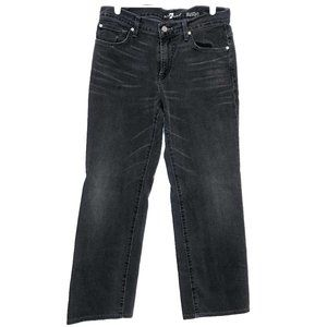 7 for all mankind charcoal grey washed black